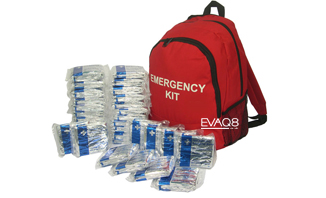 50 Foil Survival Blankets in Emergency Grab Bag - safe evacuation, first aid & prevention of shock and hypothermia | Foil Survival Blankets, standard and bespoke Emergency Kits from EVAQ8.co.uk the UK's emergency preparedness specialist