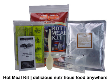 Beyond Foil Survival Blankets, first aid and shelter: Emergency Food such as hot meal kits, survival rations, freeze dried food etc | Foil Survival Blankets, standard and bespoke Emergency Kits from EVAQ8.co.uk the UK's emergency preparedness specialist