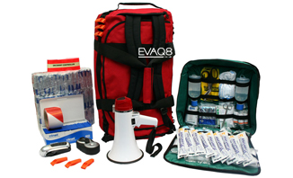 Site Evacuation Kit with 100 Foil Survival Blanket and other Emergency Preparedness resources for safe evacuation | Foil Survival Blankets, standard and bespoke Emergency Kits from EVAQ8.co.uk the UK's emergency preparedness specialist