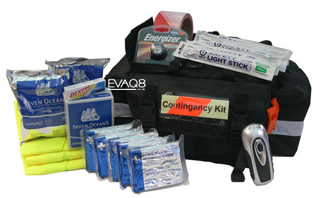 Contingency Kit Workplace Up To 20 Persons with Foil Survival Blankets and other shelter-in-place supplies | Foil Survival Blankets, standard and bespoke Emergency Kits from EVAQ8.co.uk the UK's emergency preparedness specialist